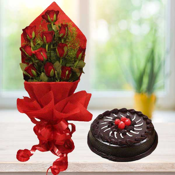 Roses N cake online delivery