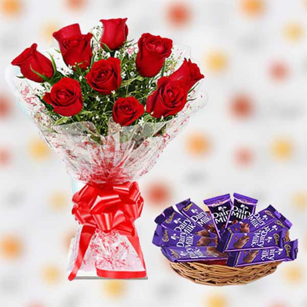 Roses And Dairy Milk online delivery