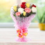 mix roses bunch online delivery