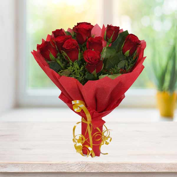 red roses bunch online delivery
