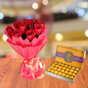 send roses with sweets online