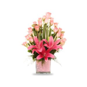 order roses and lily arrangement online
