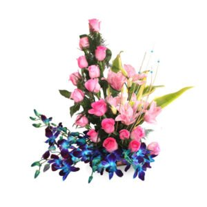 order arrangement of roses and orchids online