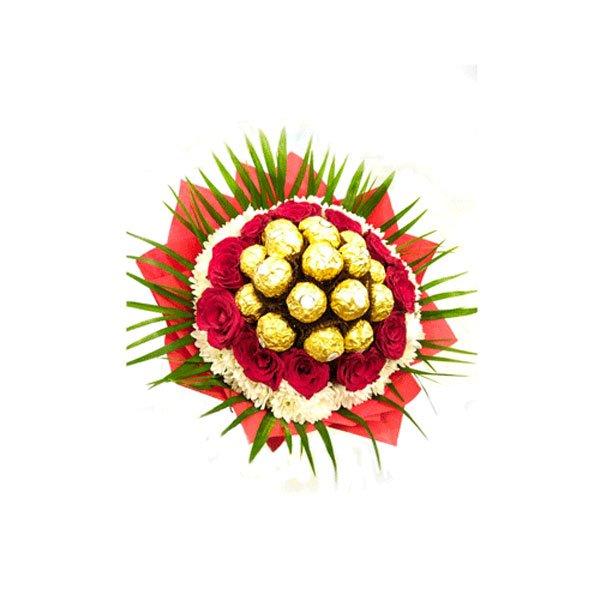 send roses and ferrero online