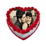 order Heart Shaped Photo Cake online