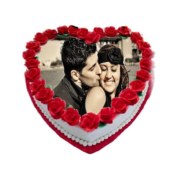 order Heart Shaped Photo Cake online
