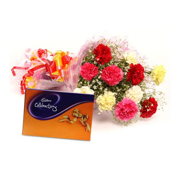 order carnations and chocolates online