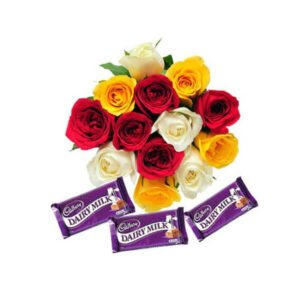 roses and dairy milk chocolates online delivery