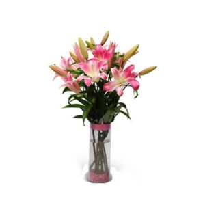 order lilies in a glass vase online