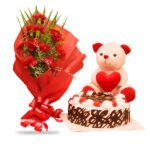 order carnations and cake online