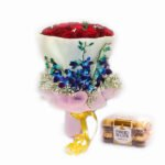 bouquet of roses and ferrero rocher online delivery