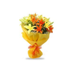 order bouquet of yellow lilies online