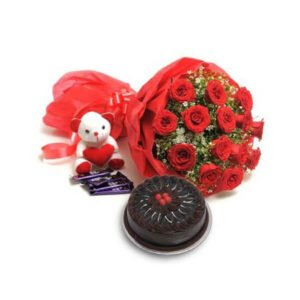 roses chocolate and cake online delivery