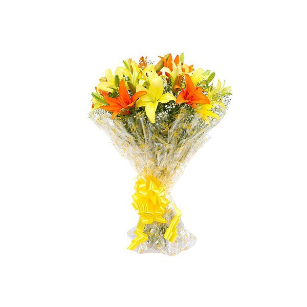 bouquet of yellow lilies online delivery