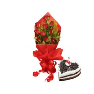 Rose Bunch & Cake online delivery
