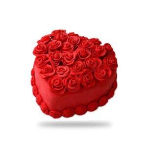 order Heart Shape Velvet Cake online