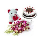 orchids cake and teddy online delivery