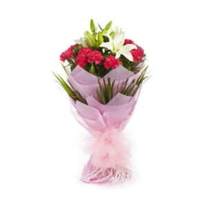 bouquet of carnations and lilies online