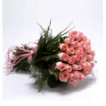 order pink rose bouquet online
