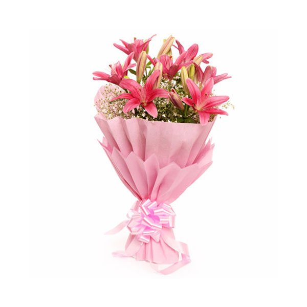 bouquet of pink lily online delivery