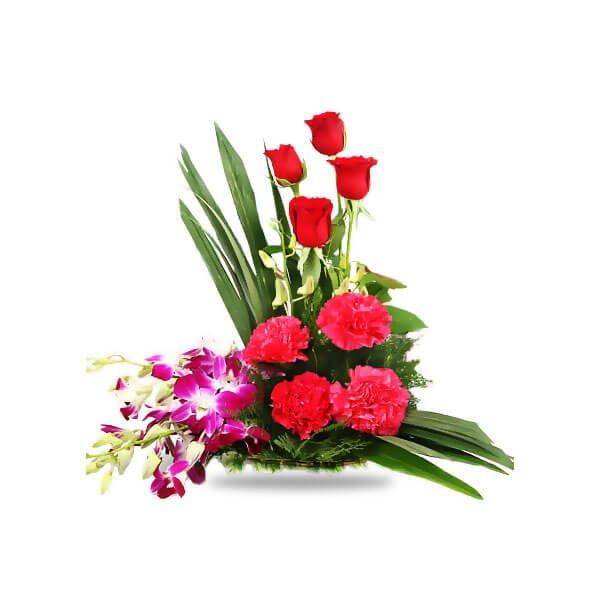mix flower basket online delivery