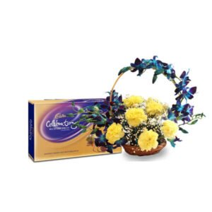 send flower basket and chocolates online