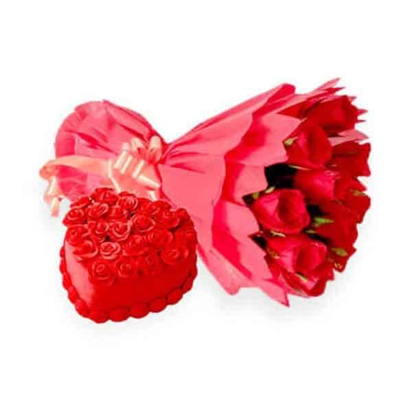 send roses and red velvet cake online