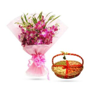 Send Orchids & Dry Fruits online