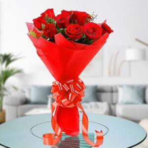 red roses bunch