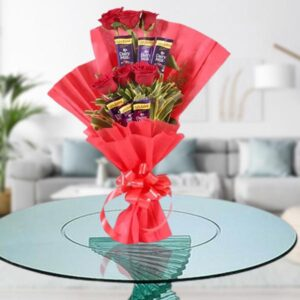 flowers and chocolate bouquet online delivery