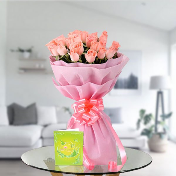 pink roses bouquet online delivery