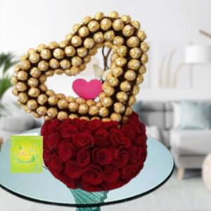 chocolate and ferrero heart