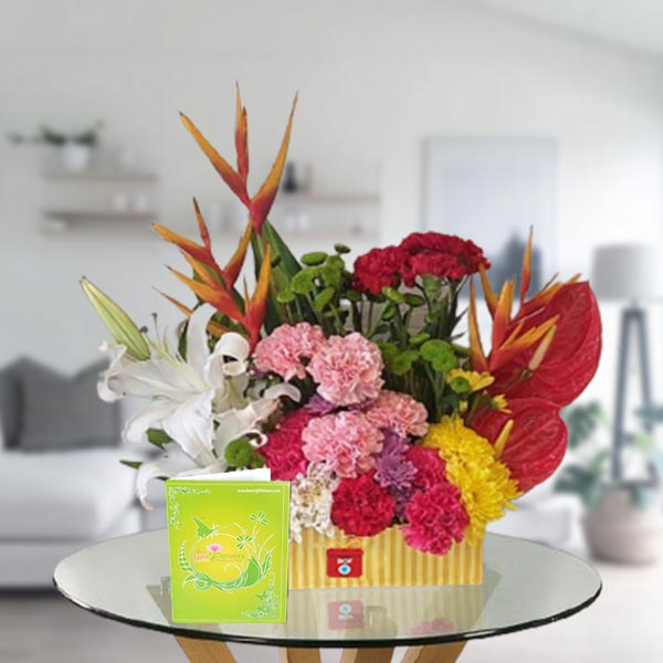 flower box arrangement