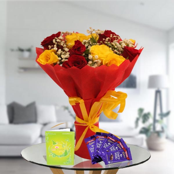 mix roses and chocolates