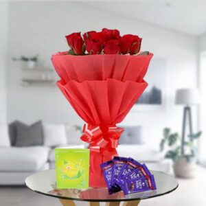 order red roses and dairy milk chocolates