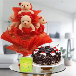 order teddy bear and cake online