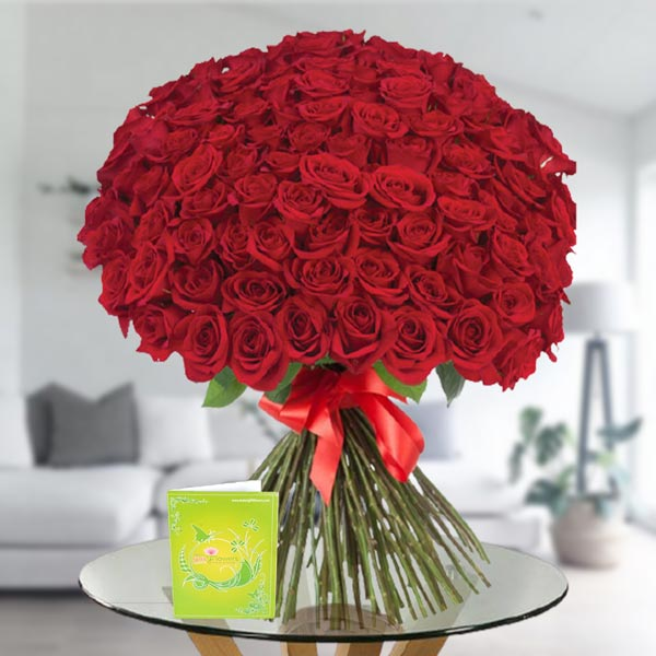 100 roses bouquet