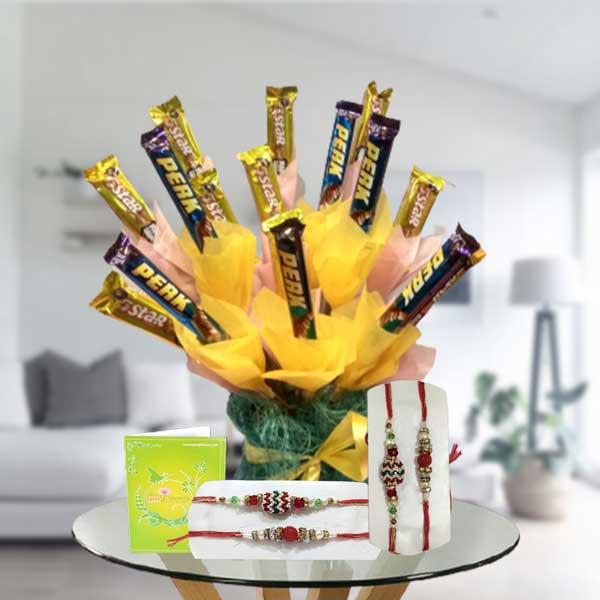 rakhi set with chocolates