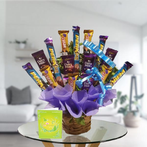 chocolate bouquet arrangement