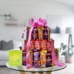 3 tier chocolate arrangement