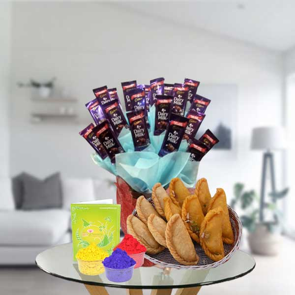 Chocolates and gujiya