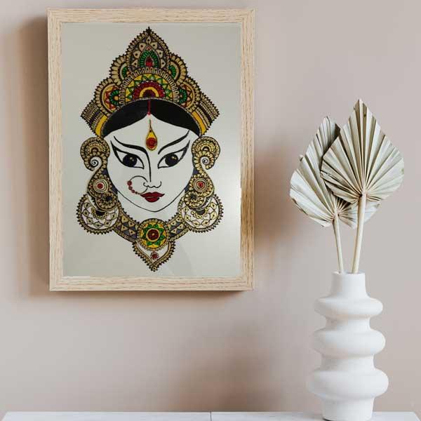 durga glass painting