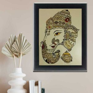 Ganeshji Glass Painting