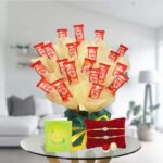 pearl rakhi and kitkat hamper