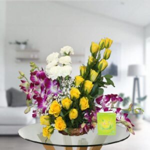 mix flower basket