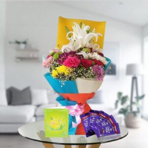 exotic flowers and chocolates