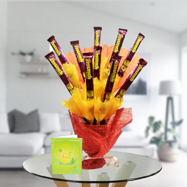 munch chocolate bouquet arrangement