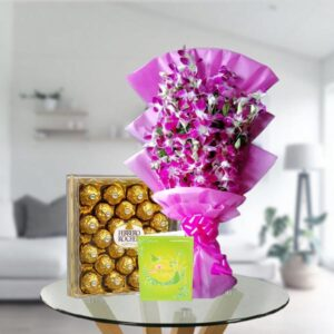 orchids and ferrero box