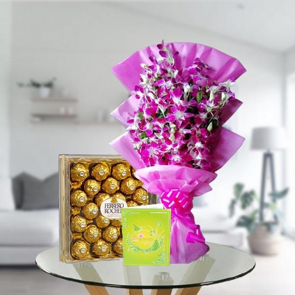 orchids and ferrero box