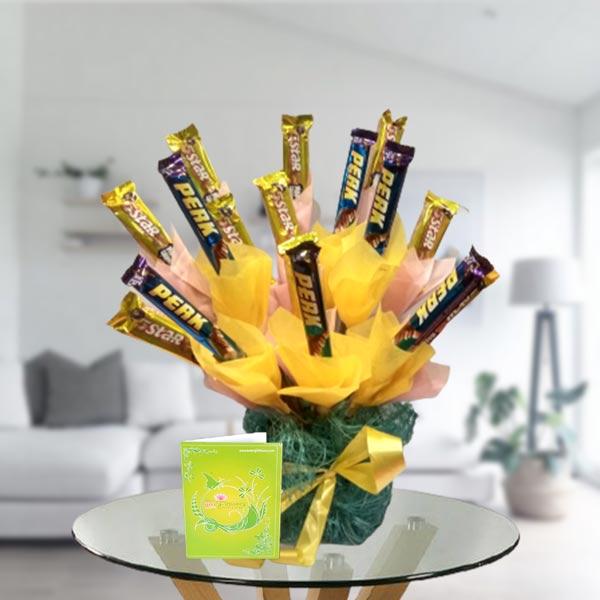 5 star chocolate arrangement